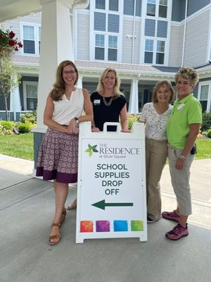 Local residents and associates from The Residence at Silver Square senior living community in Dover, NH are hosting a backpack and school supply drive now through Aug. 31.