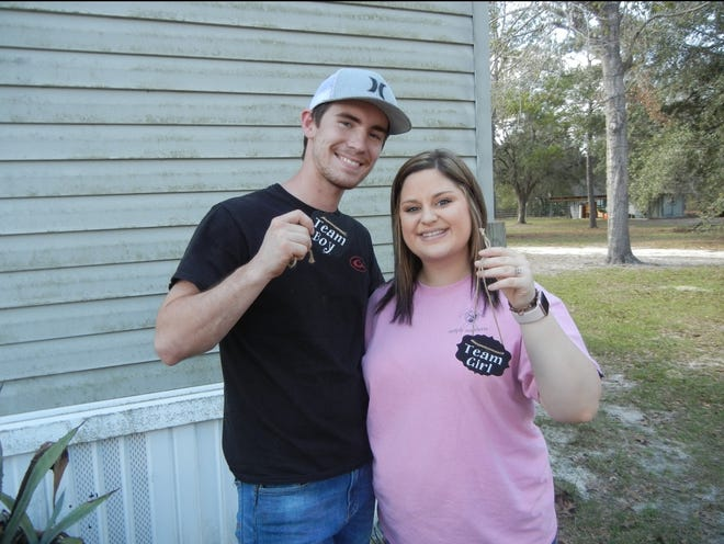 Ryan Chase Kennedy and fiancéeBailey Christine McKnight on the early 2018 day they announced that she was pregnant. They and their unborn son were killed in July.