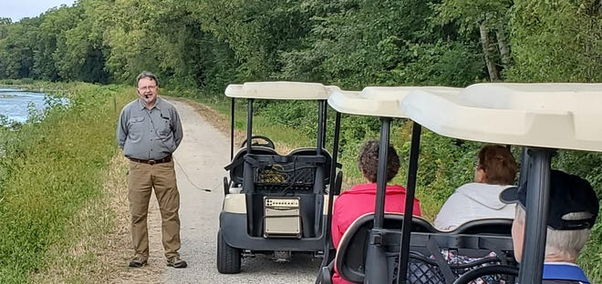 """Bob Thompson of Geneseo Campground serves as a host for the """"Cruise the Canal"""" tours which will be held on four dates this year – Aug. 14, Sept. 10, Oct. 8 and Oct. 9."""