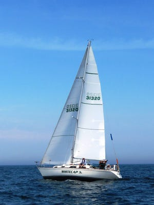 The Whitecap is the boat the Beyer family will be traveling across Lake Michigan in this weekend