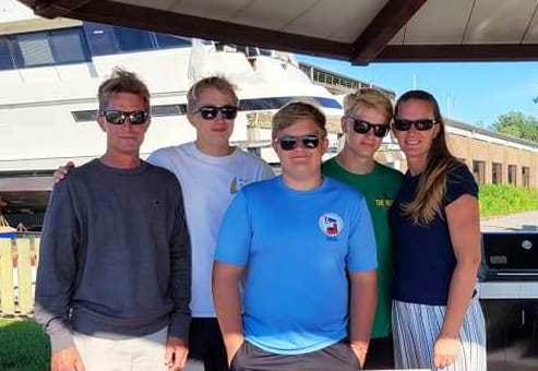 The Beyer family of Todd , Zachary, Keegan, Quentin and Marcy will take on the Chicago to Mac race for the first time as a family this weekend