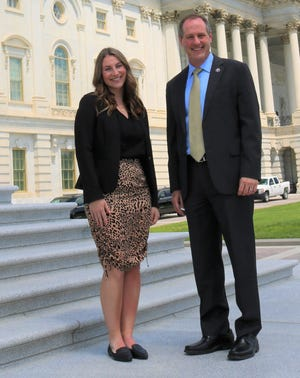 Grace Vogel interns in Washington, D.C. for U.S. Rep. Tracey Mann.