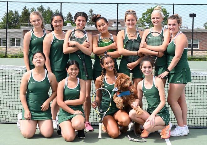 The WRHS 2021 girls' tennis team district champions.