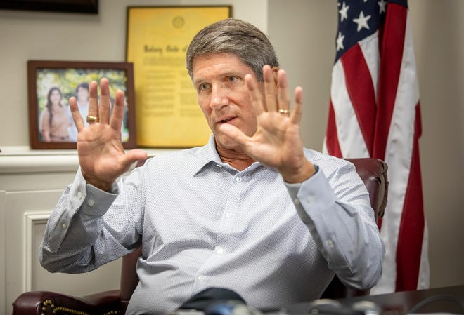 Though U.S. Rep. Scott Franklin's campaign donations from April through June ranked far behind other Florida representatives, he faced no opponent with any reported campaign money as of Monday.
