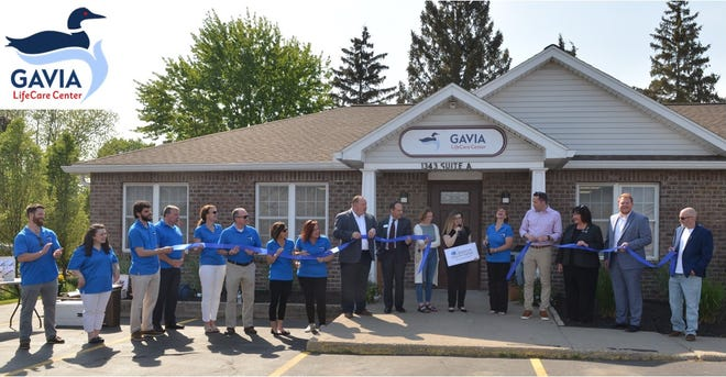 """The Greece Regional Chamber of Commerce celebrates the grand opening of Gavia LifeCare Center, 1343 Long Pond Road. Dr. Sherry Nau, executive director, spoke to the assembled, sharing that Gavia's mission is to """"ensure that every mental health clinician and client is equipped with the necessary resources to cope with the many demands they encounter."""""""