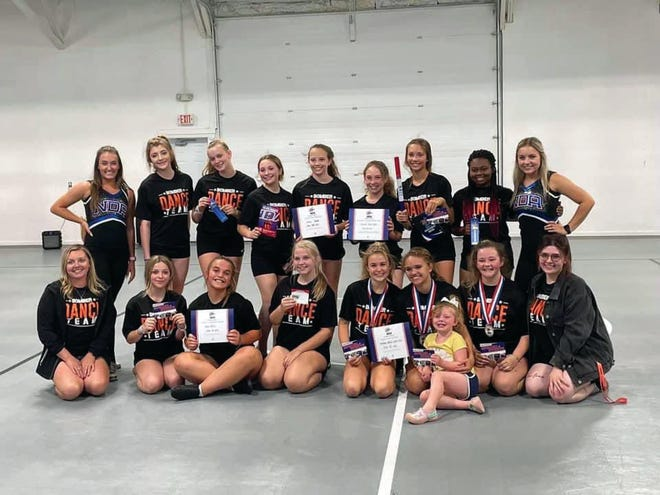 The Bomber Dance Team participated in the NDA home camp. They performed a home routine choreographed by the seniors and earned a bid to Nationals in Orlando. Five athletes earned All- American nominations and three were selected. These are the best of the best dancers. Casadi Keithley and Khyleigh Diggs earned an Above and Beyond Award. Drew Potter earned a Kindness award.