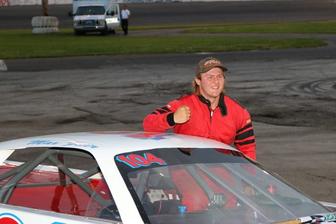 Max Fair of Milan won his first Street Stocks A Main feature race at Flat Rock Speedway Saturday night.
