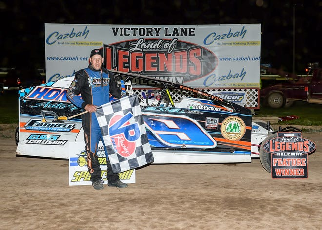 Tim Baker led wire-to-wire for his first career Sportsman Modified win at Canandaigua on Saturday.