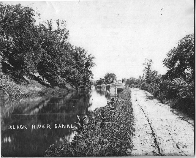 """The Black River Canal was a four-foot deep, 42-foot wide """"ditch"""" that connected the Erie Canal in Rome with Boonville, the Black River and High Falls (Lyons Falls)."""