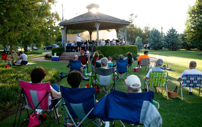 Lawn chairs, blankets and picnics are welcome when the Nichols Hills Band presents its final free outdoor concert of 2021 on Aug. 19 in Kite Park, 1500 Camden Way.