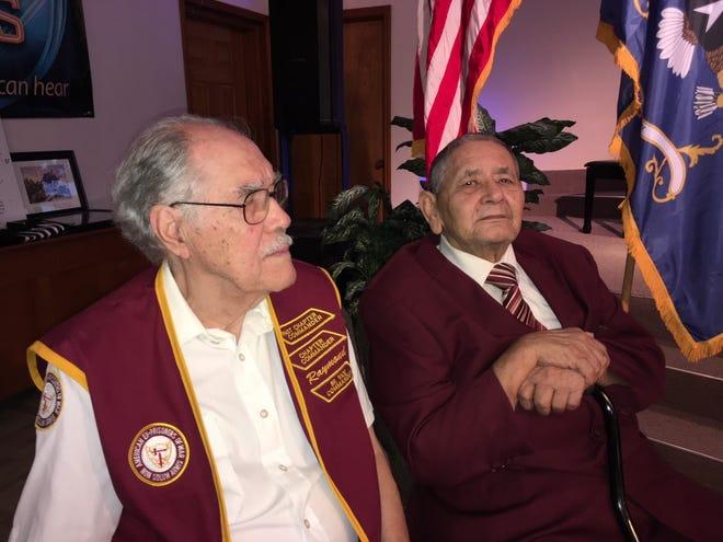 Decorated Korean War veterans Raymond Herbert Medina, left, and Miguel Martir Lopez.