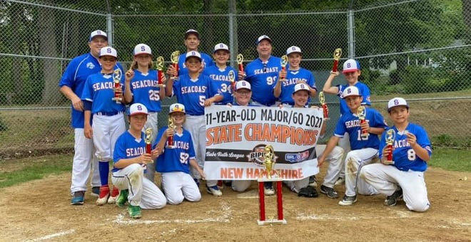 The Seacoast Cal Ripken 11-year-old all-star team beat Oyster River, 8-6 on Saturday in the New Hampshire Cal Ripken 11-year-old, 60-foot state tournament in Madbury. Members of the Seacoast team includeDylan Zumbach, Colin Healy, David Cuceu, Dylan Mu, Nathan Goupil, Colby Swasey, JohnValhouli, Sean Casado, Ethan Roy, Oscar Fritz, Kaiden Sharpe andNick Bosco.