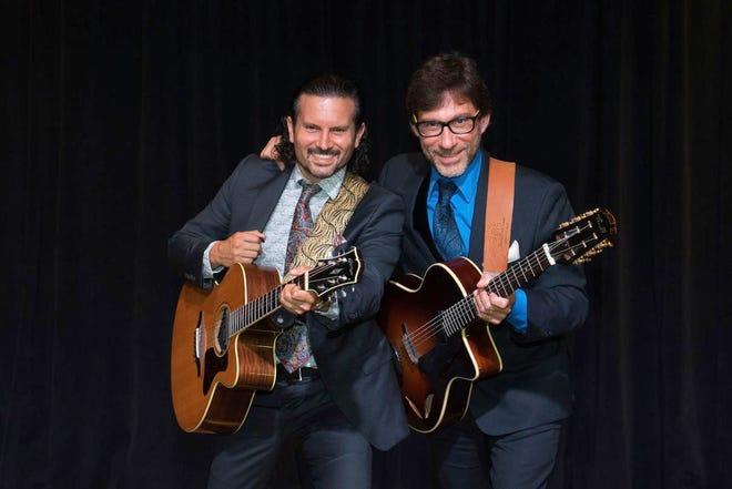 Guitarists Frank Vignola and Vinny Raniolo rock OPA audiences with their virtuoso jazz.