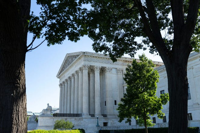 A view of the U.S. Supreme Court on June 28, 2021 in Washington, DC. (Drew Angerer/Getty Images/TNS)