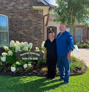 The yard of Michelle Landry Sharon and Jeffrey Sharon was named Garden of the Month by the Plaquemine Garden Club.