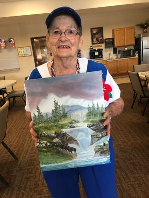 Ella Mae Marrs of Greensburg painted this picture 30 years ago, but then lost track of it; a person from Mississippi recently contacted her and restored the painting to its original creator.