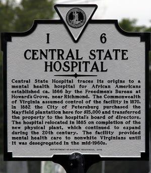 Central State Hospital historical marker