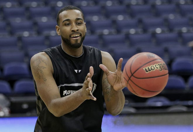 LaDontae Henton catches a pass during practice back in 2015. Henton returns to the Friars as a special assistant 10 years after he was first recruited as a player by head coach Ed Cooley.