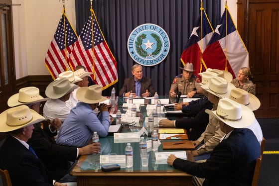 Governor Greg Abbott hosted a border security round table with sheriffs from border counties.