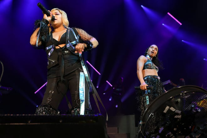T-Boz and Chilli with TLC – seen here performing at Cellairis Amphitheatre at Lakewood on Wednesday, July 24, 2019, in Atlanta – will play St. Augustine's Sing Out Loud Festival.