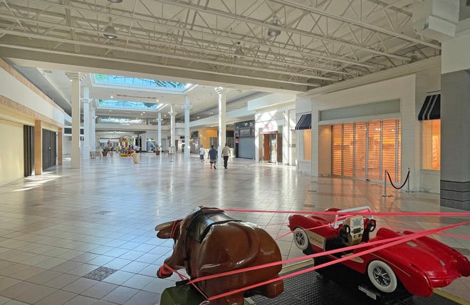 The corridor of the DeSoto Square Mall where Bath & Body Works operated before the mall closed. The retailer is moving to a new location at the Shoppes of Paradise Bay.