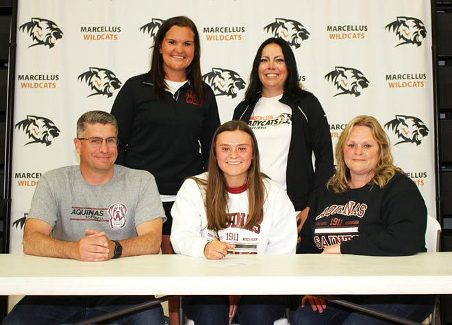 Marcellus High School graduate Erin Morgan will continue her academic and softball pursuits at Aquinas College.