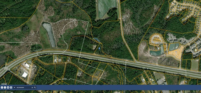 A 2.64-acre parcel in Shallotte that was sold last year by Brunswick County for $9,315 as part of its surplus property bid process.