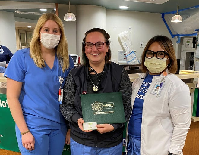 ICU and Emergency Room Nursing Manager Jessica Cobb, Kayla McFarland, and ICU and Emergency Room Director Naomi Cobb.