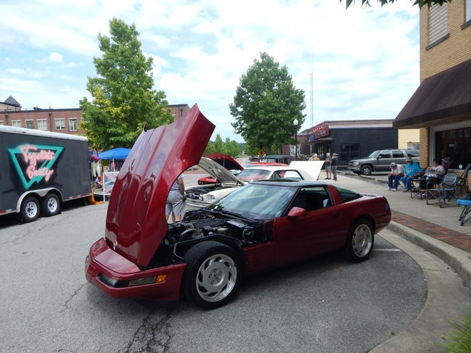 The Springs Valley Alumni Car Show was held July 10 on Main Street in French Lick. Ron Woolsey's 1966 Mustang won the People's Choice Award, and Dave Nicholson's 2018 Dodge Charger won the Kids' Choice Award.