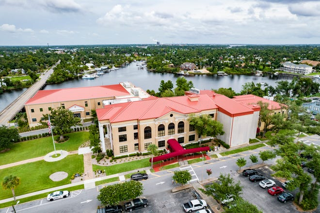 The Bay County Courthouse Committee has voted to expand the Bay County Courthouse, shown on Monday, to create a campus where all court offices can be located.