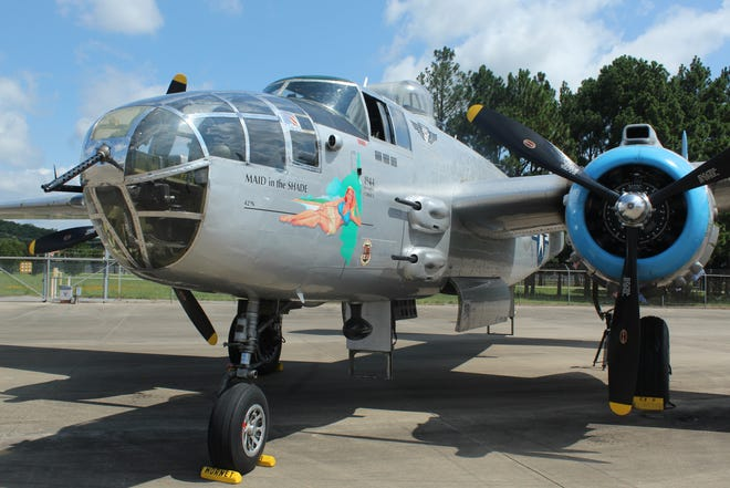 """The B-25 """"Maid in the Shade"""" will be in Fort Smith through July 18 as a part of the Flying Legends Victory Tour."""