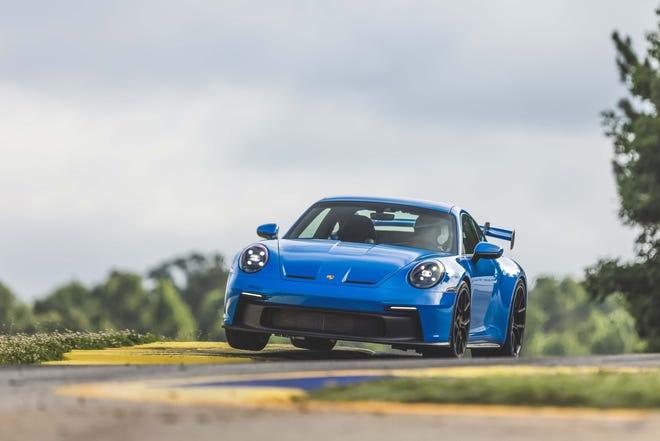 The 2022 Porsche 911 GT3 shows off its athletic skills at Road Atlanta Raceway.