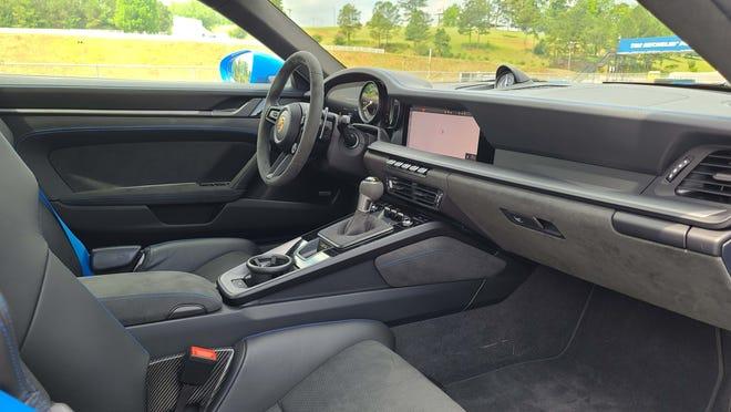 The interior of the 2022 Porsche 911 GT3.