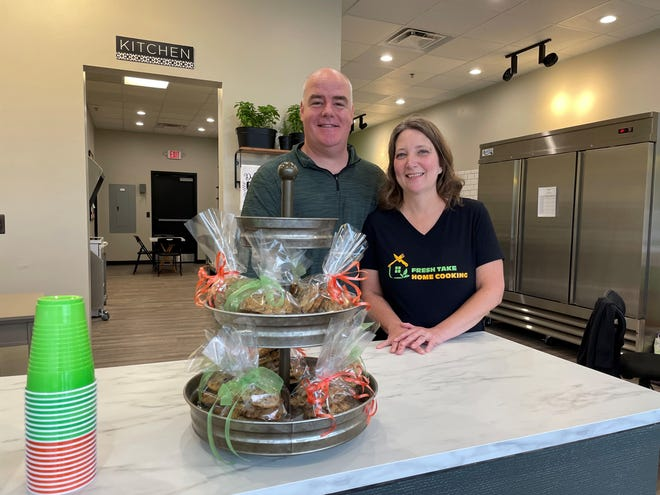 Fresh Take Home Cooking owner Gwen Thompson and her husband, Erik, are gearing up to open the new business in Hamburg Township, shown Monday, July 12, 2021.