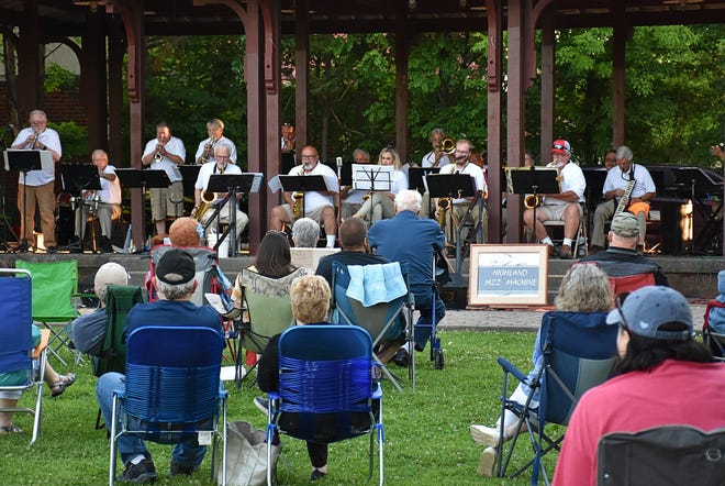 The Highland Jazz Machine plays at Holland Park in Downtown Dickson.