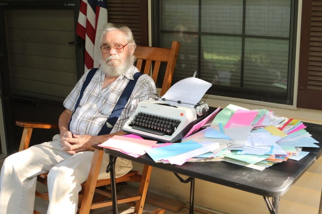 Scott Laughlin has written a letter every day to his wife, Barb, who has been in a nursing home since the outbreak of COVID-19. His total is now nearly 500 letters, and counting.