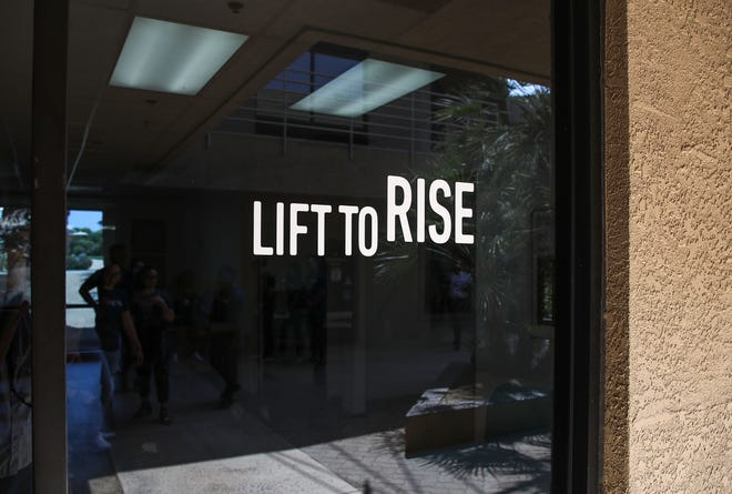 The Lift To Rise offices in Palm Desert in July. The organization, which works to increase housing affordability in the Coachella Valley, administers Riverside County's rental assistance program in the area.