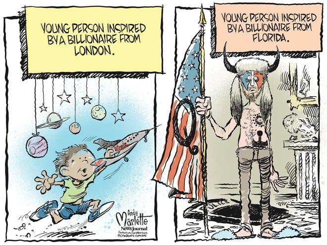 Marlette cartoon: Billionaires and big dreams