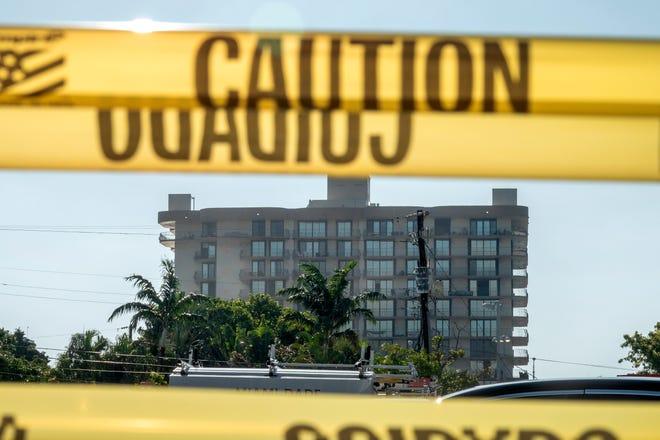 Vista del edificio residencial en Surfside (Miami-Dade) que sufrió un derrumbe el pasado 24 de junio.