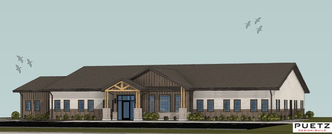 A rendering of the future home of Encompass Mental Health at 77th Street and Cliff Avenue to come in 2022.