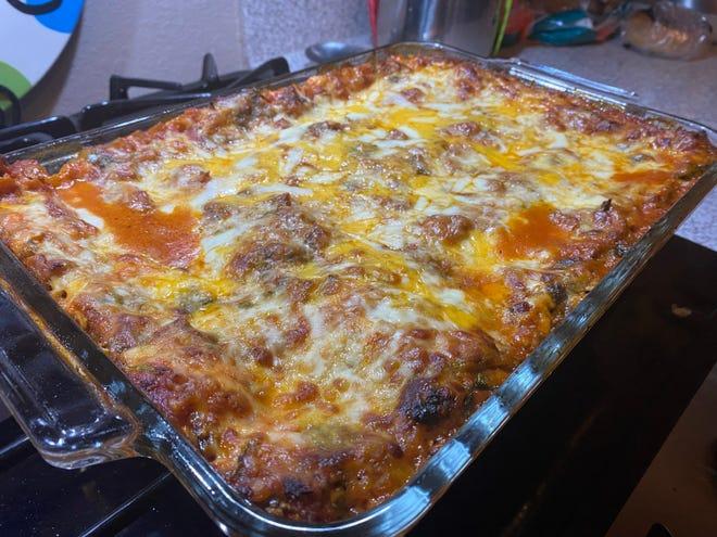 La salsa di pomodoro può essere utilizzata nelle lasagne non bollenti solo con carne o verdure.