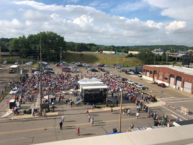 A crowd of about 1,500 filled the parking lot in front of Secrest Auditorium during the city's first summer concert earlier this month. The city is prepared for even more people for the second show at 6:30 p.m. Thursday.