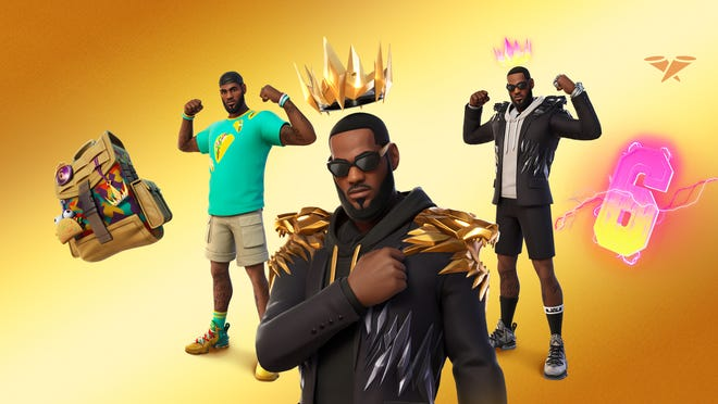 Outfits designed by Epic Games and NBA star LeBron James for Fortnite.
