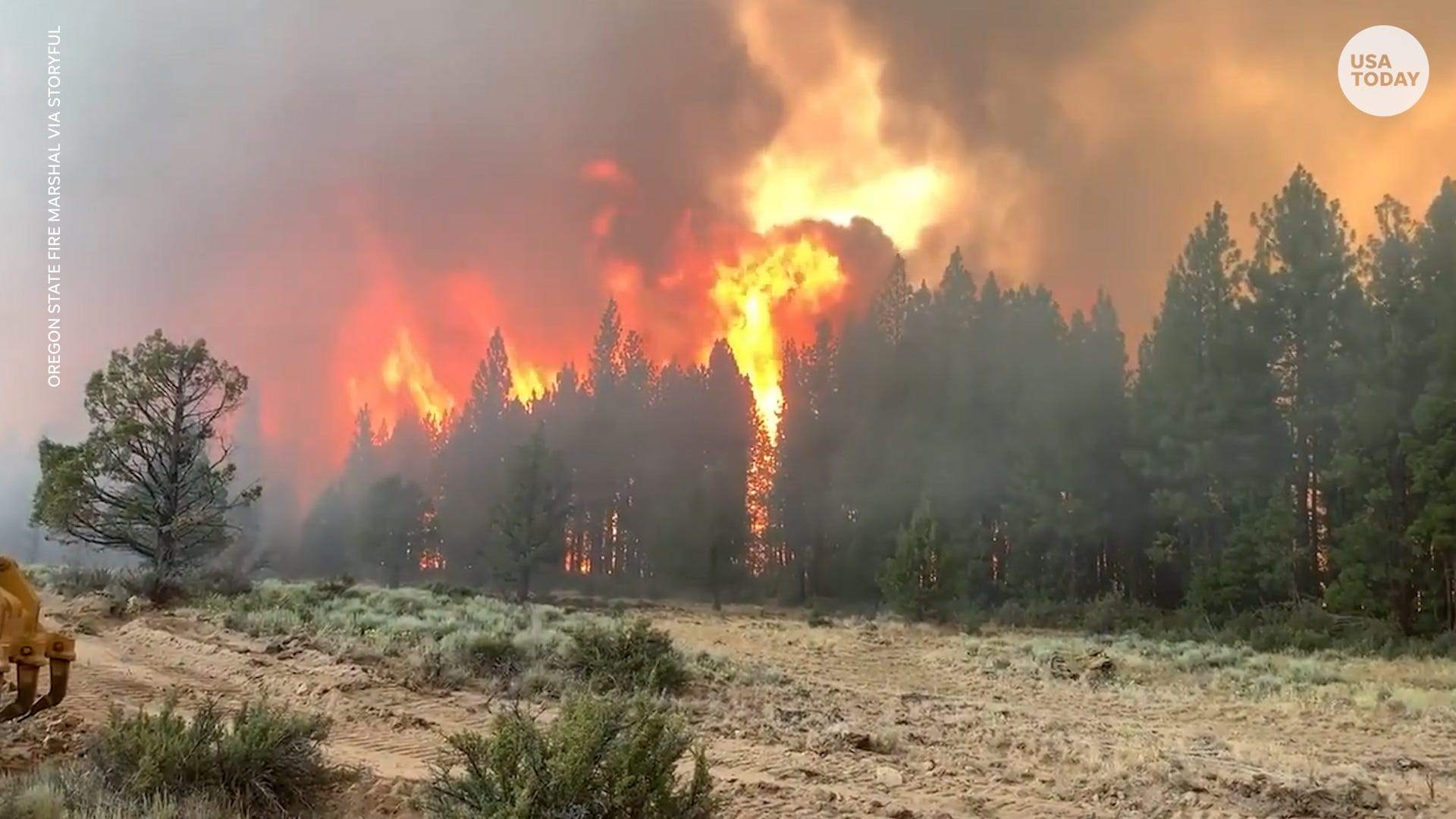 Wildfires burn more than 300,000 acres across six states