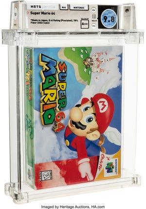 Cette copie de 'Super Mario 64' s'est vendue aux enchères pour 1,56 million de dollars.