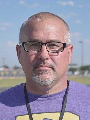 Dalhart head football coach Joey Read