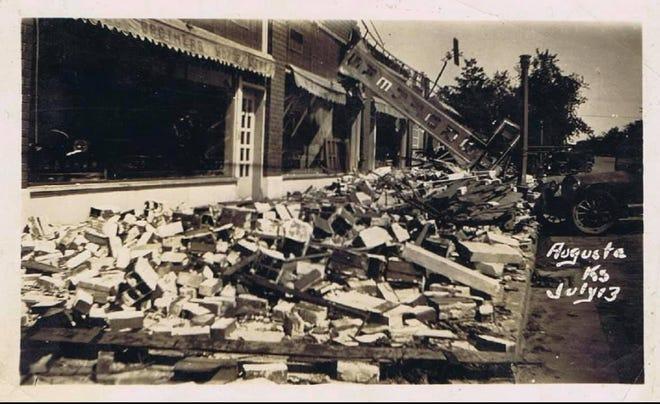 Rubbish and debris from the Augusta 1924 Tornado