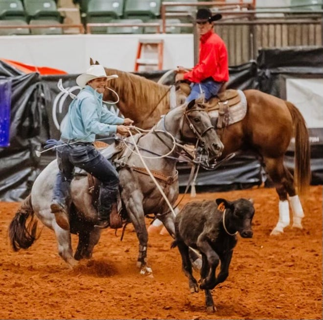 Justin Plaisance of Cut Off will be making his second straight appearance in the National High School Rodeo Finals in calf roping. The 16-year-old sophomore will compete in the national finals July 18-24 in Lincoln, Nebraska.