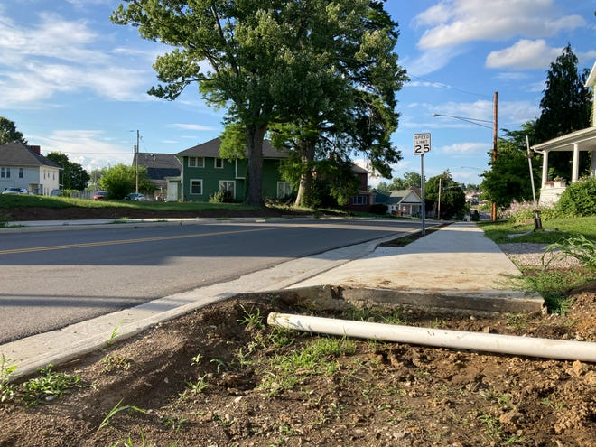 Work began on the$1 million Clark Street project to replace 7,000 feet of waterline in February 2019. Removal ofthe current road bed and reconstruct new sidewalks, curbs and gutters started later that year. Most of the work has been completed. What remains isplanting grass seed,doing the dirt work along the sides of road, and some cement work on the sidewalks. The work was scheduled to be completed in December.
