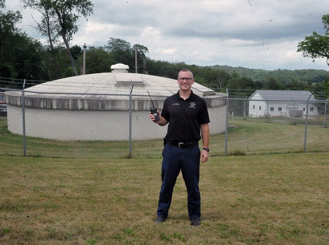 South Central Fire District Asst. Chief Shawn McKelvey stands in a small field where the new MARCS tower will be built south of Fredericksburg. The tower will provide better radio coverage for South Central personnel as well as other first responders and state agencies.